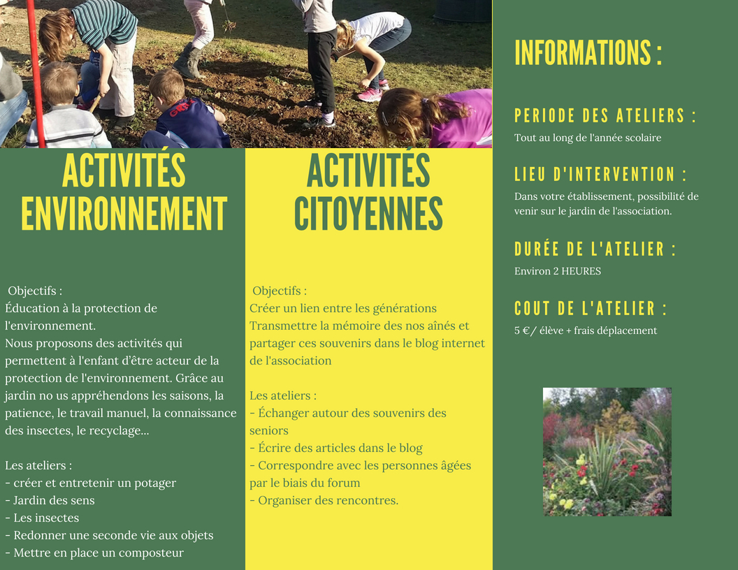 Catalogue activites scolaire 1