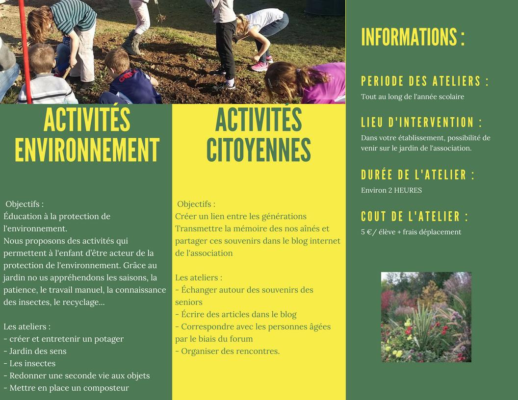 Catalogue activites scolaire 1