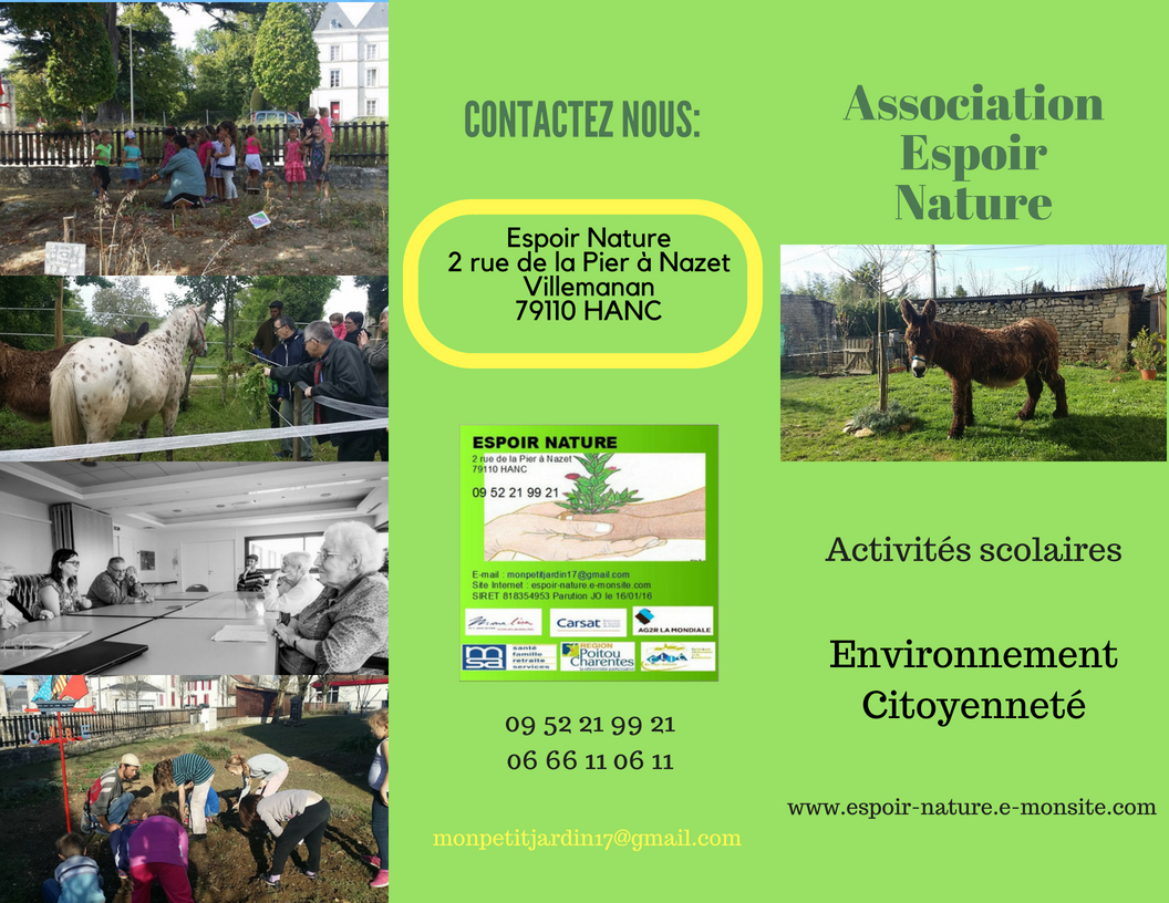Catalogue activites scolaire